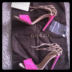 Gucci Crystal Suede Shoes 💕